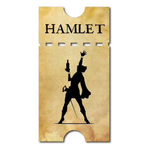 Inebriated Shakespeare Hamlet Ticket